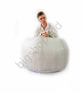 Bancheta Because Crocodile Bean Bag - White XXL